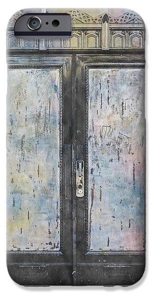 Rust iPhone Cases - Urban Bank Doorway iPhone Case by John Fish