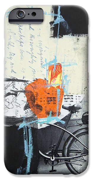 Abstractions iPhone Cases - Urban bicycle iPhone Case by Elena Nosyreva
