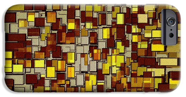Abstractions iPhone Cases - Urban Dwellings No 2 iPhone Case by Ben and Raisa Gertsberg