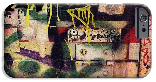 Chip Mixed Media iPhone Cases - Urban Graffiti Abstract 1 iPhone Case by Tony Rubino