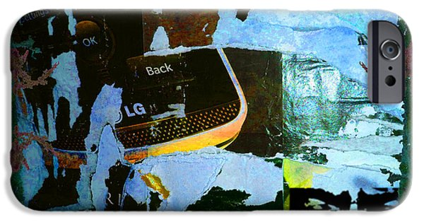 Chip Mixed Media iPhone Cases - Urban Graffiti Abstract 2 iPhone Case by Tony Rubino