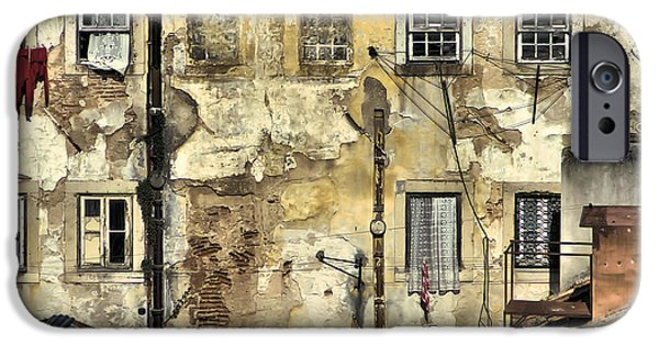 Abandonment iPhone Cases - Urban Lisbon iPhone Case by David Letts