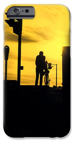 Hobart iPhone Cases - Urban shadows iPhone Case by Sean Davey