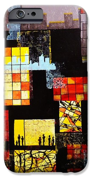 Boardroom Mixed Media iPhone Cases - Urbania iPhone Case by David Raderstorf