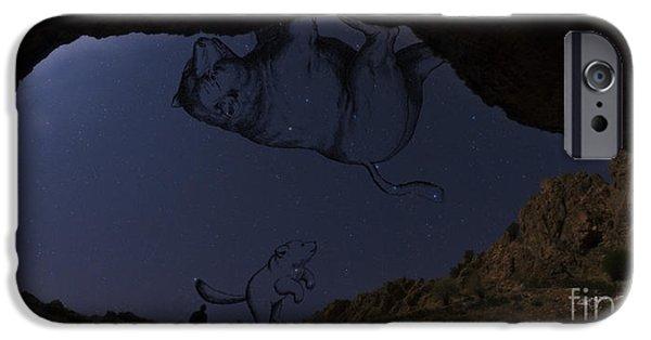 Ursa Minor iPhone Cases - Ursa Major & Minor iPhone Case by Babak Tafreshi