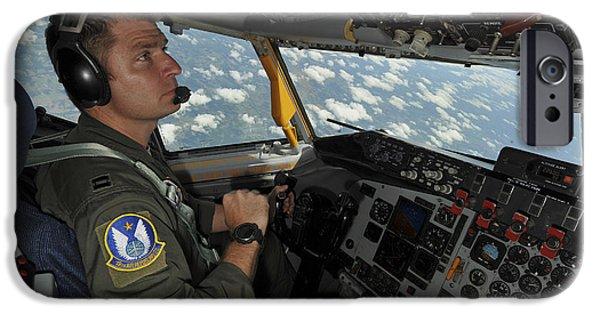 Arkansas iPhone Cases - U.s. Air Force Pilot Checks The Cockpit iPhone Case by Stocktrek Images