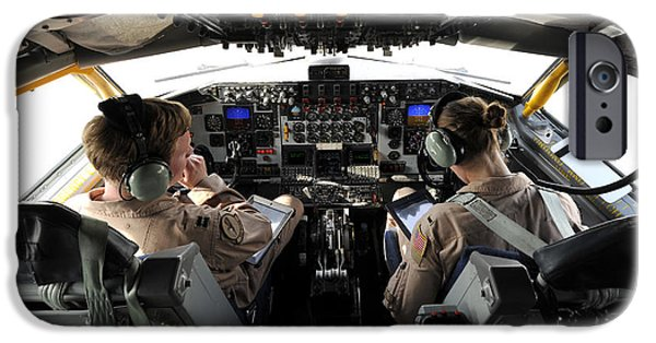 Iraq iPhone Cases - U.s. Air Force Pilots Discuss Refueling iPhone Case by Stocktrek Images
