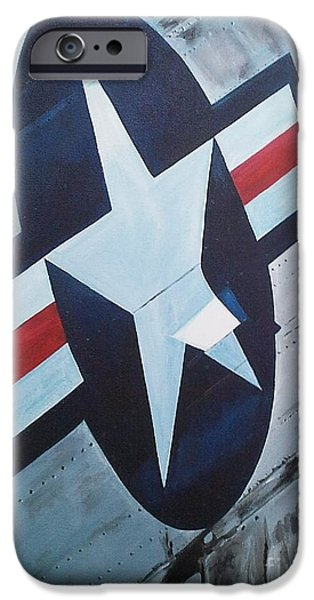 Jet Star iPhone Cases - US Air Force iPhone Case by Richard John Holden