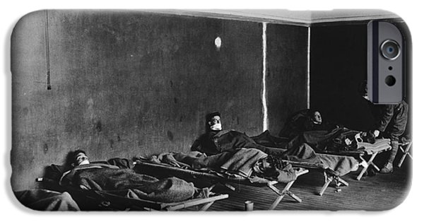 World No. 1 iPhone Cases - Us Army Influenza Ward, 1918 Pandemic iPhone Case by National Library Of Medicine