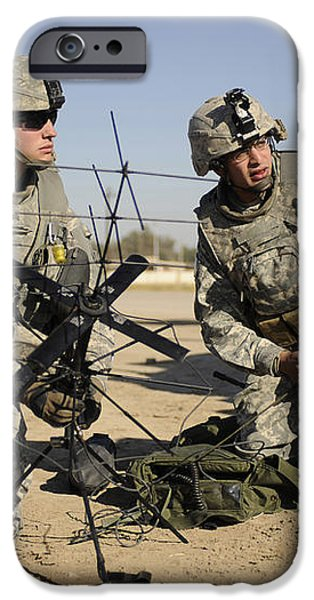 U.s. Army Soldiers Setting iPhone Case by Stocktrek Images