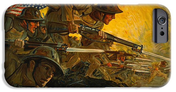 World War One iPhone Cases - U. S. Army World War I iPhone Case by Big 88 Artworks