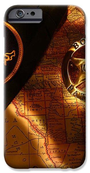 US Border Patrol iPhone Case by Daniel Alcocer