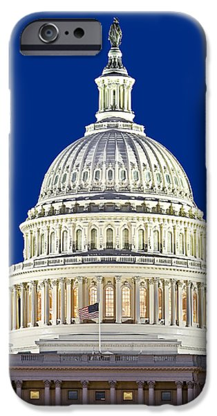U.s. iPhone Cases - US Capitol Dome iPhone Case by Susan Candelario