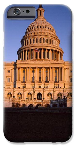 D.c. iPhone Cases - Us Capitol iPhone Case by Rafael Macia
