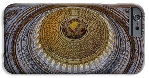 North America iPhone Cases - US Capitol Rotunda iPhone Case by Susan Candelario