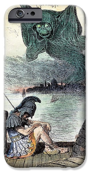 Political Allegory iPhone Cases - U.s. Cartoon: Cholera, 1883 iPhone Case by Granger