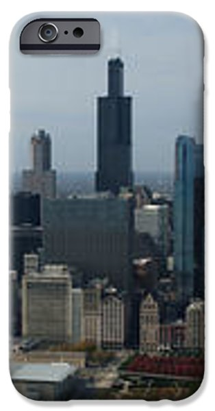US Cellular and Wrigley Field Chicago BaseBall Parks 3 Panel Composite 02 iPhone Case by Thomas Woolworth