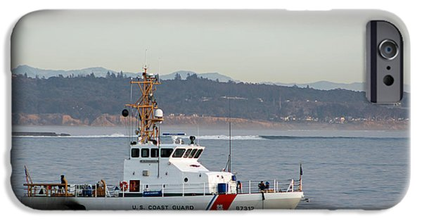 Law Enforcement iPhone Cases - U.S. Coast Guard Cutter - Hawksbill iPhone Case by Deana Glenz