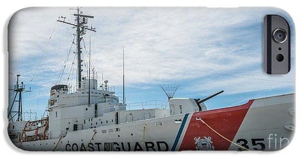 Ianmonk iPhone Cases - US Coast Guard Cutter Ingham WHEC-35 - Key West - Florida - Panoramic iPhone Case by Ian Monk