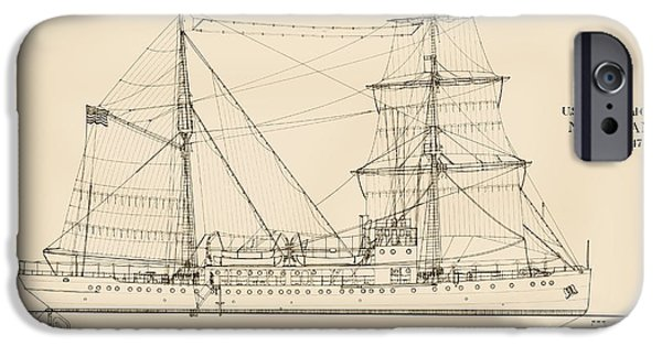 Tall Ship iPhone Cases - U. S. Coast Guard Cutter Northland iPhone Case by Jerry McElroy - Public Domain Image