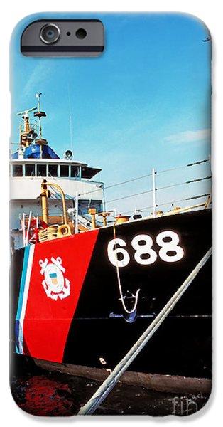 US Coast Guard Ship iPhone Case by Thomas R Fletcher