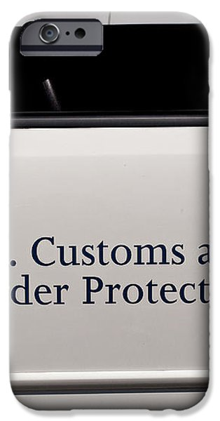 U.S. Customs and Border Protection iPhone Case by Roger Reeves  and Terrie Heslop