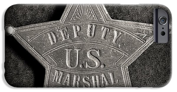 Law Enforcement iPhone Cases - US Deputy Marshal - Tin Star - Cowboy iPhone Case by Paul Ward