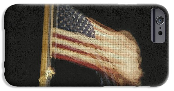 Independence Day Mixed Media iPhone Cases - US Flag iPhone Case by Celestial Images