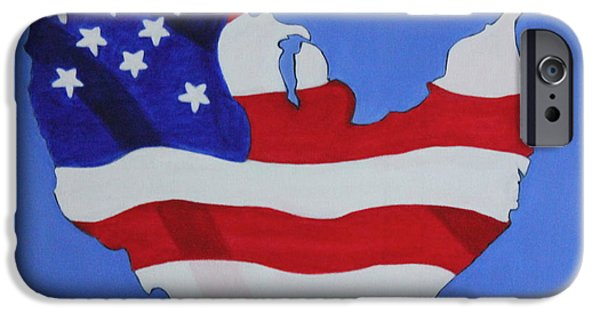 Constitution iPhone Cases - Us Flag iPhone Case by Lorna Maza