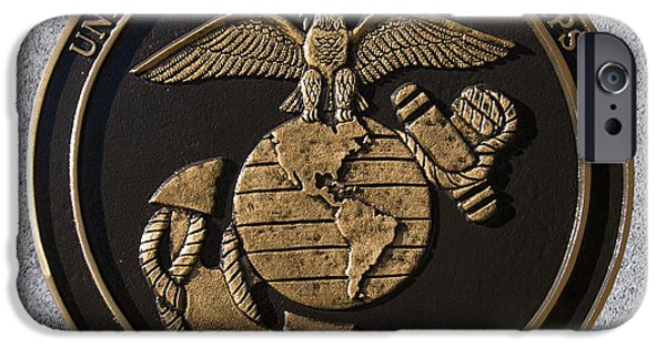Marine Corps Digital iPhone Cases - US Marine Corps iPhone Case by Chris Flees