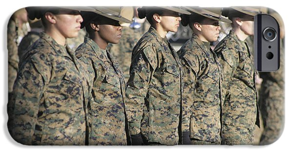 Recently Sold -  - Young iPhone Cases - U.s. Marine Corps Female Drill iPhone Case by Stocktrek Images