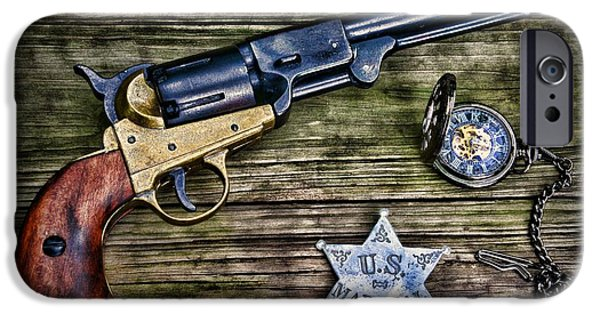 Police iPhone Cases - US Marshall - American Justice - Cowboy iPhone Case by Paul Ward