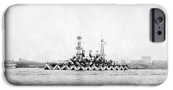 Wwi iPhone Cases - Us Navy Ship With Dazzle Camouflage, Wwi iPhone Case by Photo Researchers