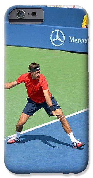 US Open Juan Martin del Potro iPhone Case by Maria isabel Villamonte