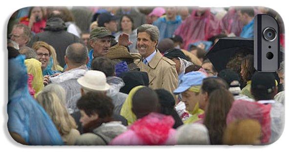Arkansas iPhone Cases - U.s. Senator John Kerry, Amidst iPhone Case by Panoramic Images