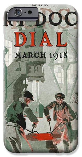 World War One iPhone Cases - Us Shipyard Magazine, World War I iPhone Case by Hagley Archive