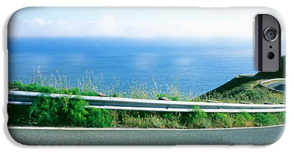 Marin iPhone Cases - Usa , California, Marin County, Road iPhone Case by Panoramic Images
