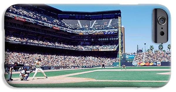 Baseball iPhone Cases - Usa, California, San Francisco, Sbc iPhone Case by Panoramic Images