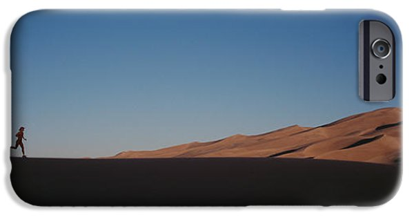 Jogging iPhone Cases - Usa, Colorado, Great Sand Dunes iPhone Case by Panoramic Images