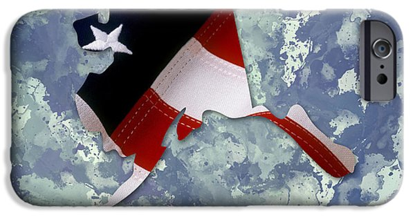 Digital Watercolor Paintings iPhone Cases - USA Flag Alaska State digital artwork iPhone Case by Georgeta Blanaru