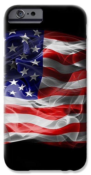 USA Flag Smoke  iPhone Case by Jt PhotoDesign