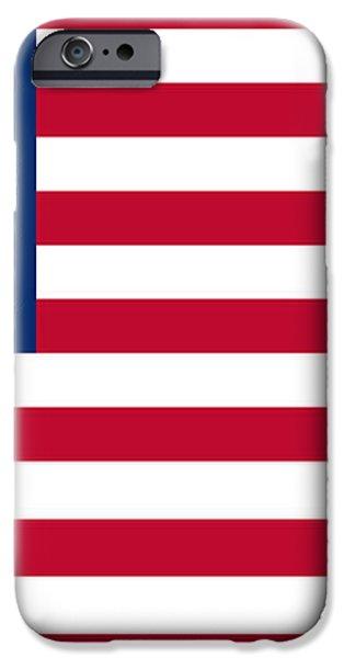 USA flag iPhone Case by Tilen Hrovatic