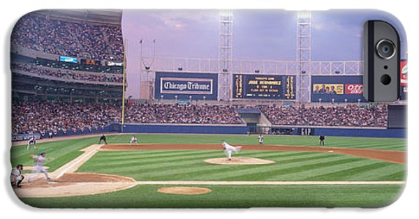 Baseball Stadiums iPhone Cases - Usa, Illinois, Chicago, White Sox iPhone Case by Panoramic Images