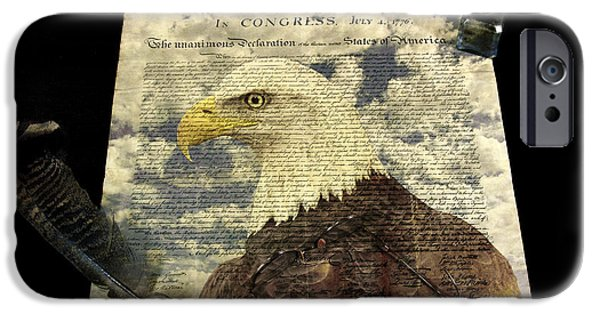 American Independance iPhone Cases - Usa iPhone Case by Jack R Perry