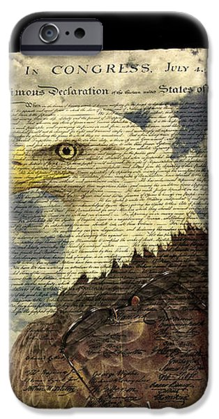 USA iPhone Case by Jack R Perry