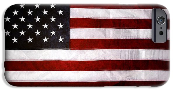 Flag iPhone Cases - Usa iPhone Case by Les Cunliffe