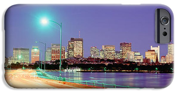 Charles River iPhone Cases - Usa, Massachusetts, Boston, Highway iPhone Case by Panoramic Images
