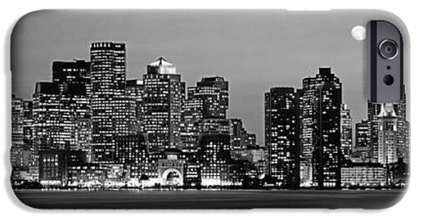 City. Boston iPhone Cases - Usa, Massachusetts, Boston, Panoramic iPhone Case by Panoramic Images