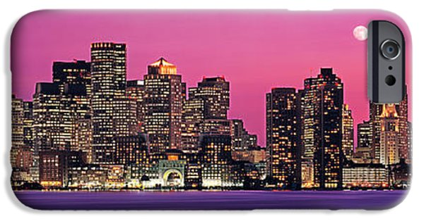City. Boston iPhone Cases - Usa, Massachusetts, Boston, View Of An iPhone Case by Panoramic Images