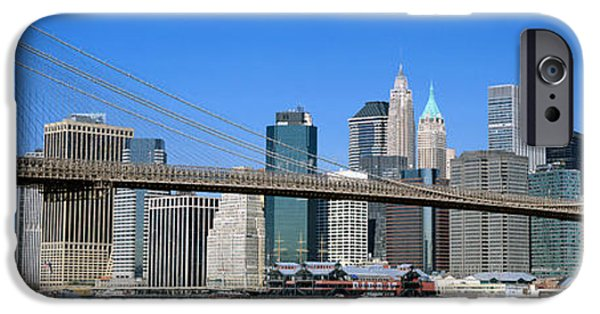 Connection iPhone Cases - Usa, New York, Brooklyn Bridge iPhone Case by Panoramic Images